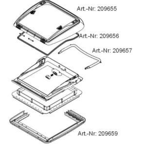 dometic innenrahmen mini heki plus technische Zeichnung 300x300 - Dometic Innenrahmen für Mini Heki plus und Mini Heki S für alle Mini-Heki -