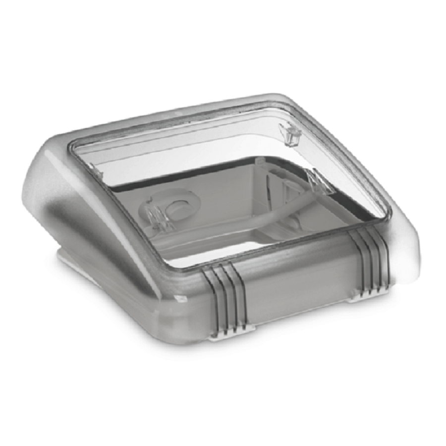Dometic Micro Heki Bügel 10x10 mit Zwangsbelüftung - Dachhaube Dachluke  Badezimmer Bad Wohnwagen und Wohnmobil